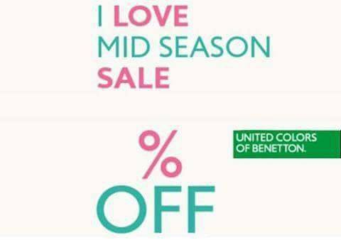 0b20a487862 MID SEASON SALE…UNITED COLORS OF BENETTON | Beautiful Life | blife.gr